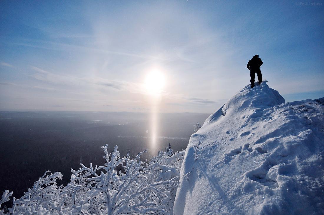 Александровская сопка зимой Южный Урал фото