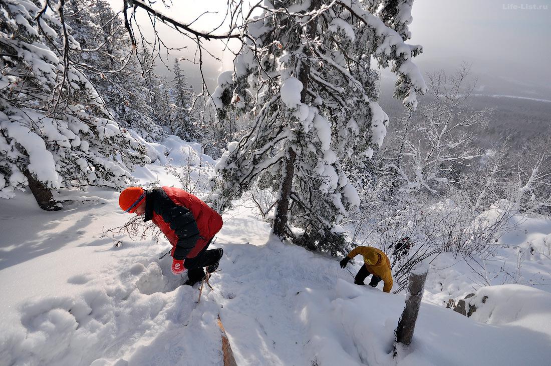 подъем на Александровскую сопку зимой фото