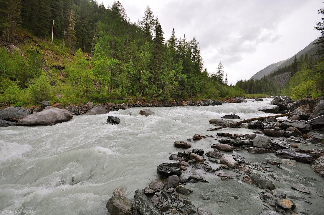 Река Аккем горный Алтай