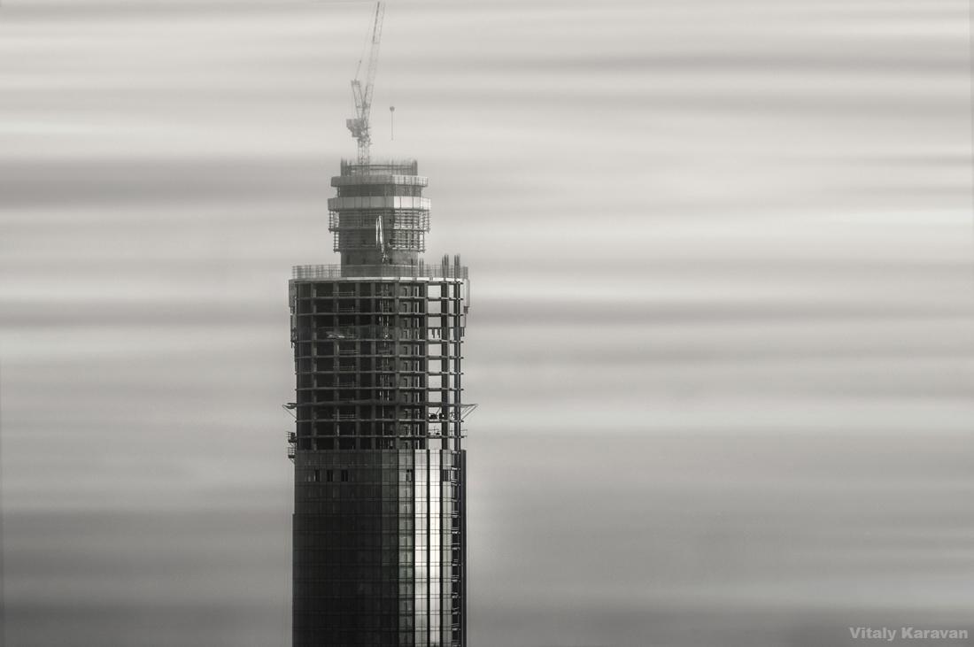 Екатеринбург Строительство башни Исеть 2013 год Фотограф Виталий Караван