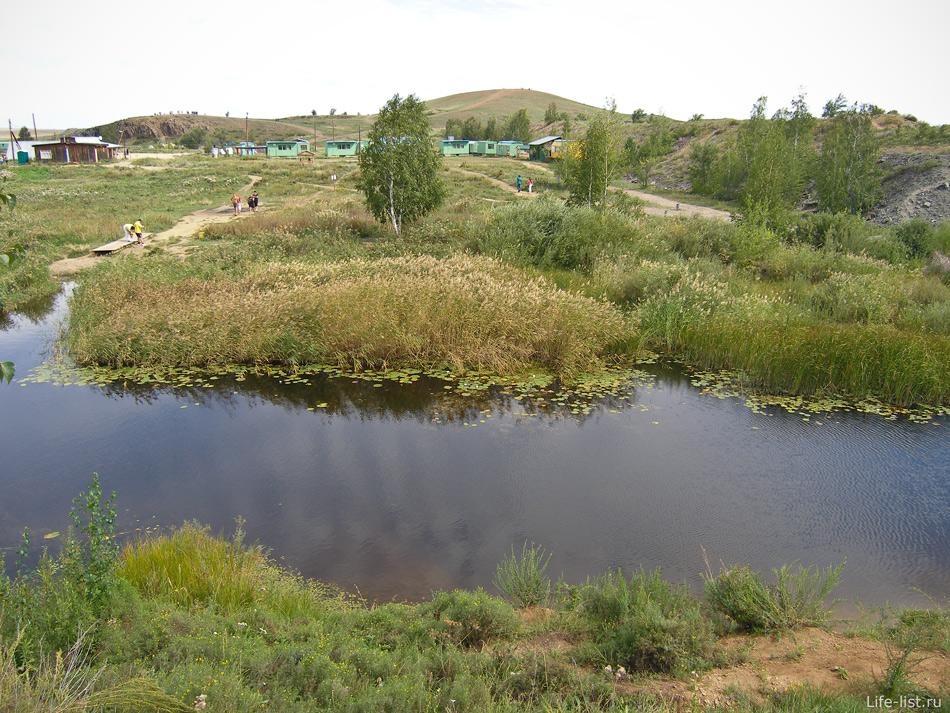 Река Большая Караганга в Аркаиме