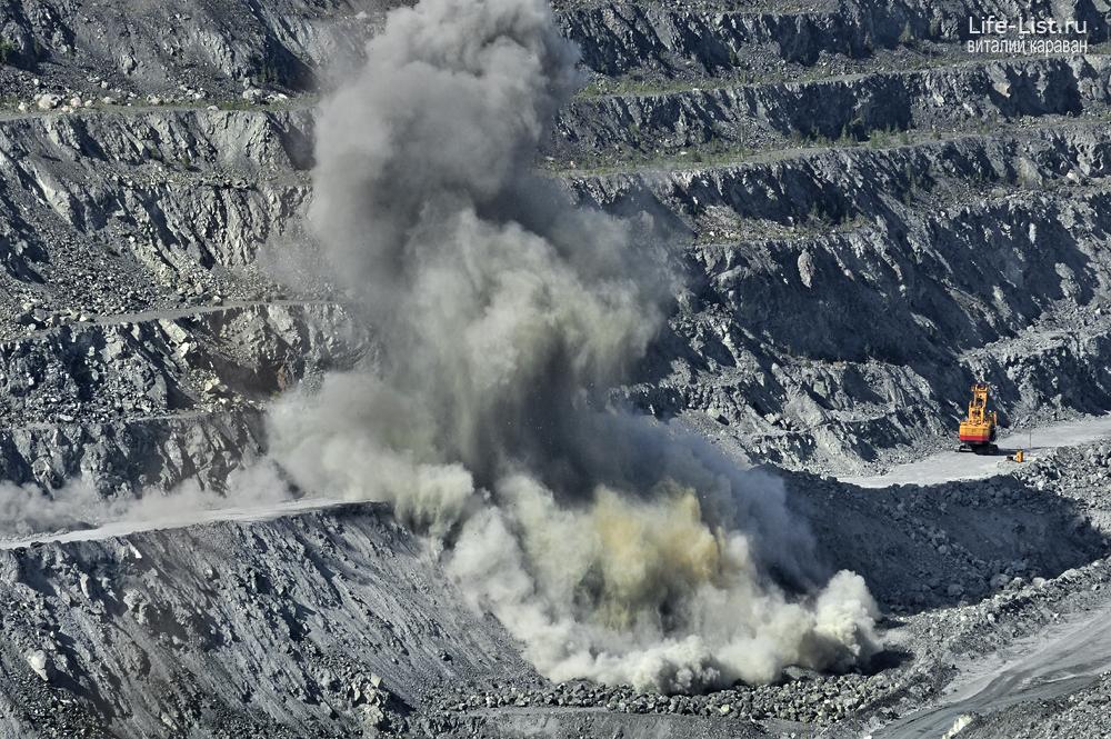 ураласбест взрыв взрывные работы асбестовский карьер фото Виталий Караван