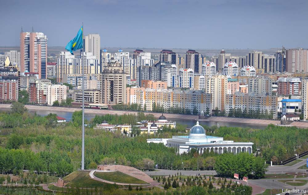 Самый большой флаг казахстана