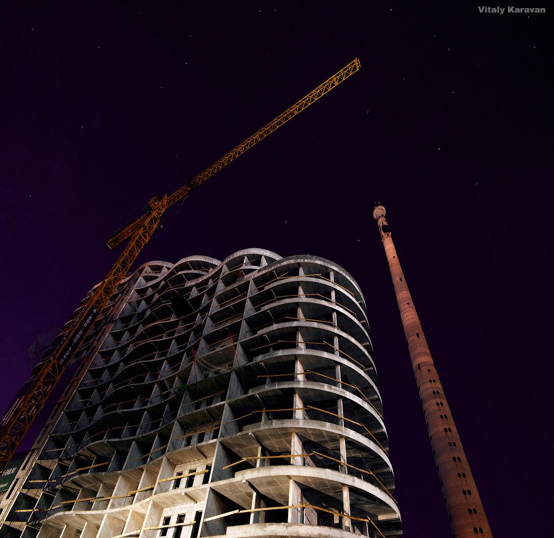Строительство апартаментов Артек 2015г