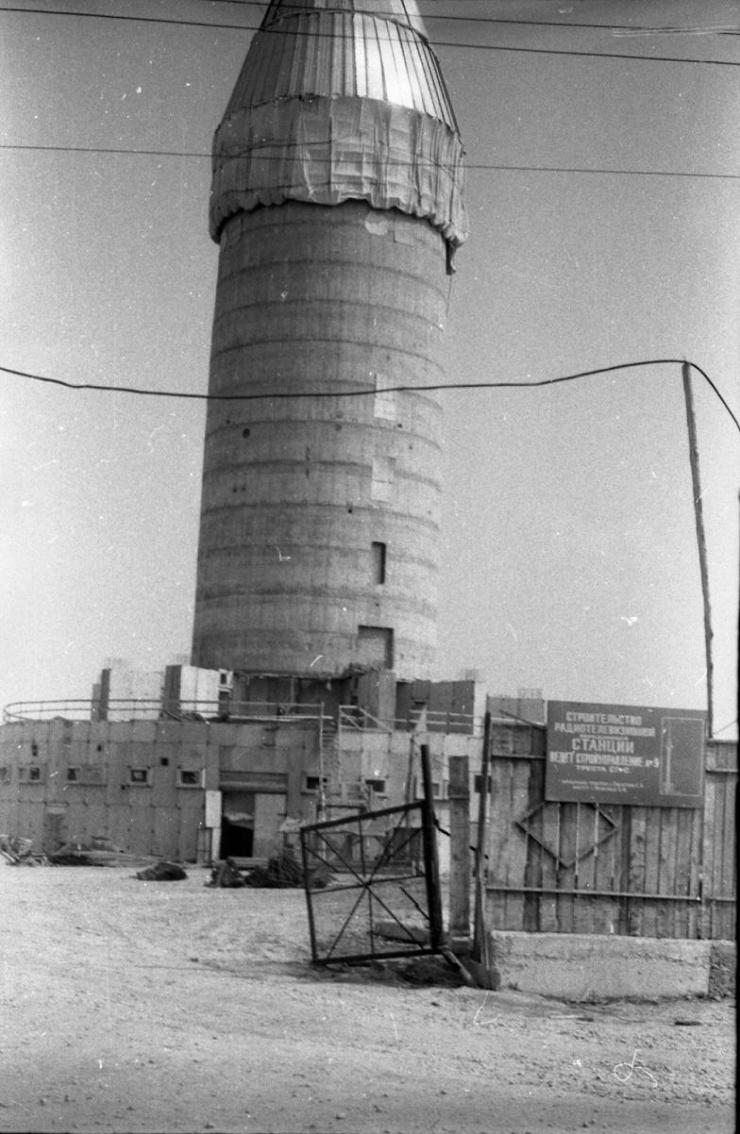 Старые фото стройки башни в Екатеринбурге