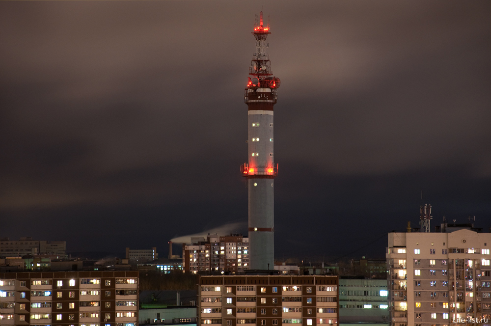 Ночной Екатеринбург телебашня