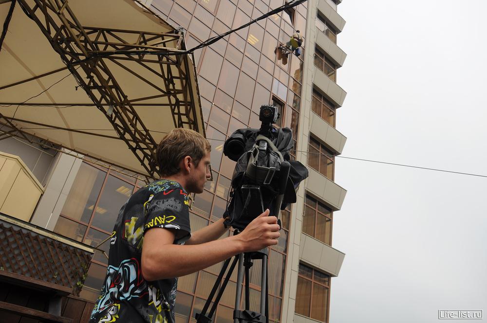 съемка репортажа 41 канал про промышленный альпинизм