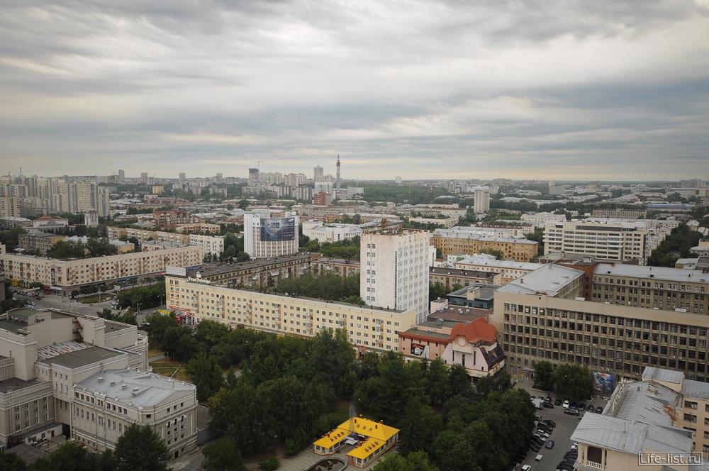 Екатеринбург с высоты центр города