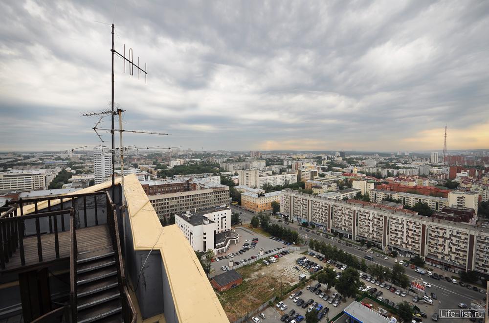 Смотровая площадка на Антее в Екатеринбурге