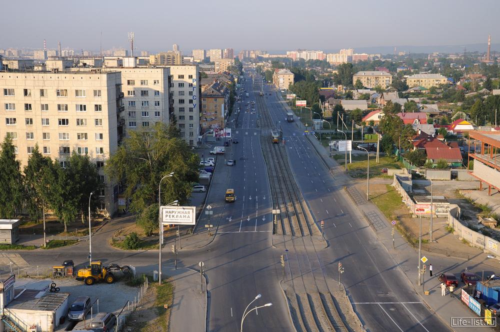 улица бакинских комиссаров с высоты белой башни