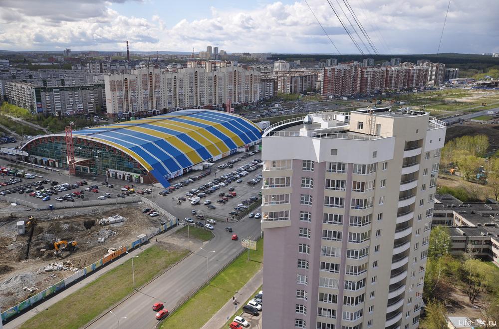 Екатеринбург с высоты. Дирижабль