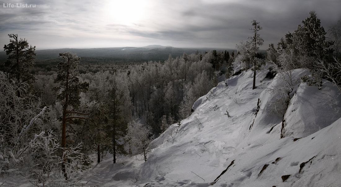 Скала Белый камень Полевской Урал