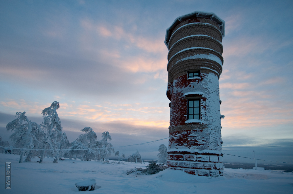 водонапорная башня в белогорском мужском монастыре