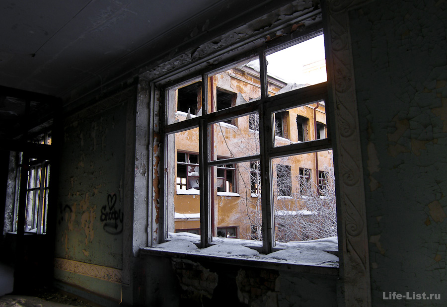 заброшенная больница в Зеленой роще Екатеринбург