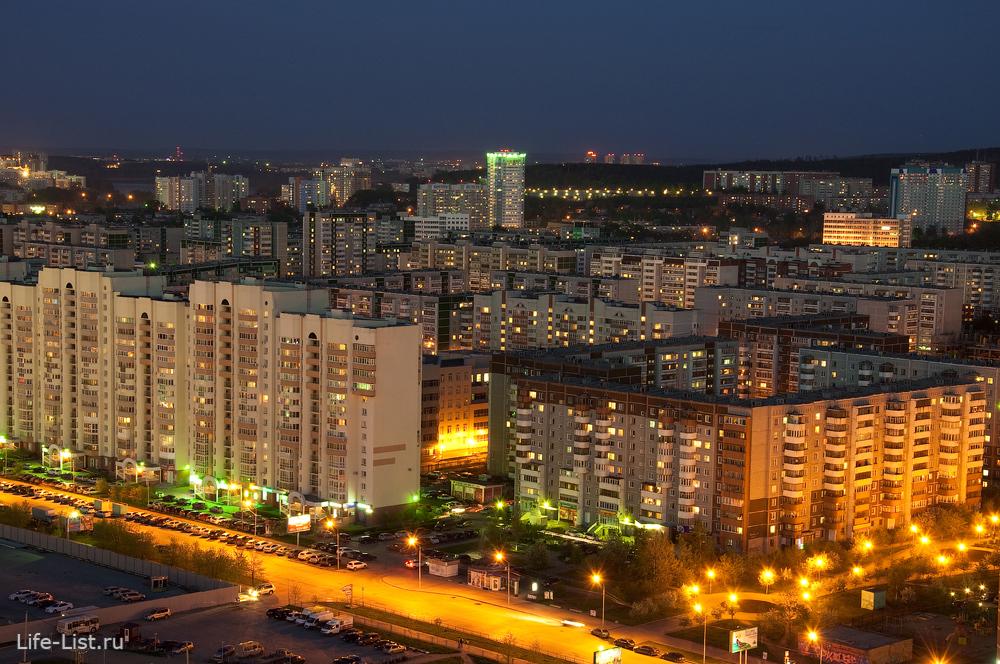 Карта Микрорайоны Екатеринбурга (Расположение