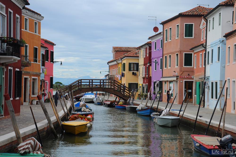 Водные каналы острова бурано Италия