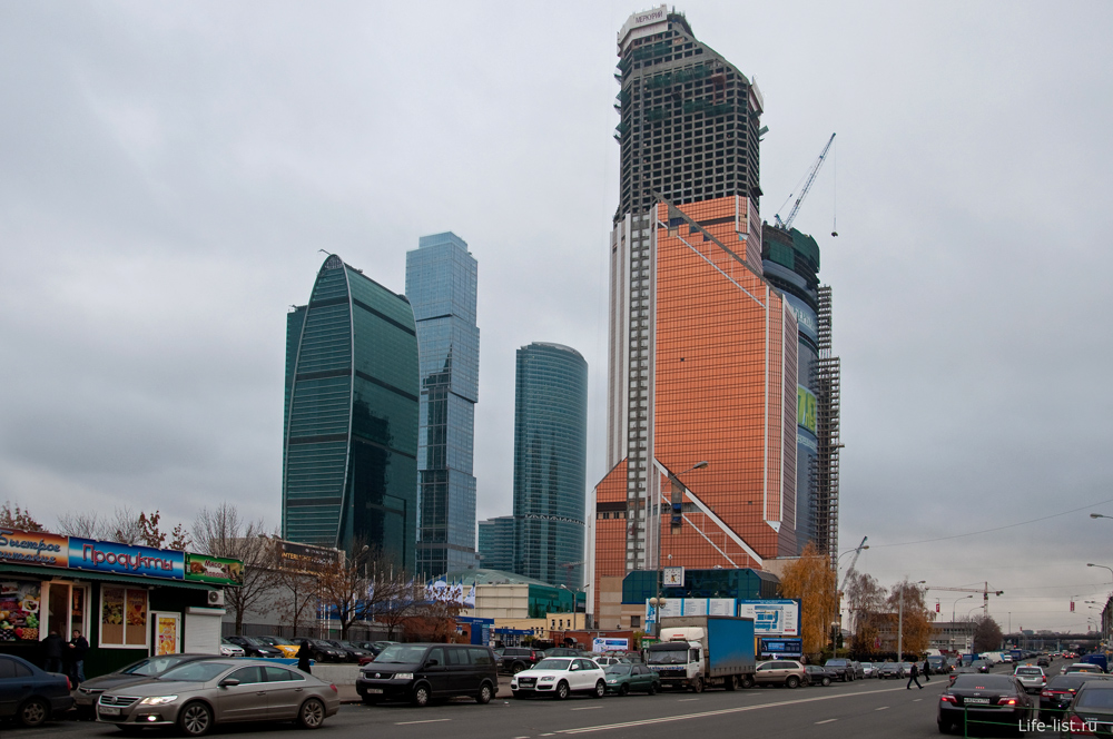 Москва-сити Вид со стороны 1-го Красногвардейского проезда