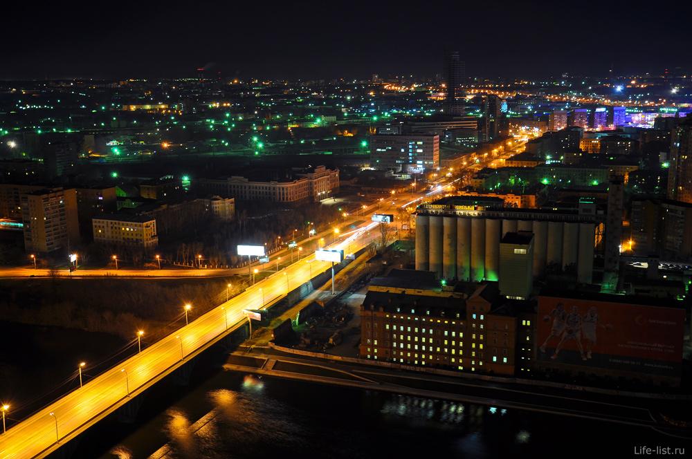 Макаровский мост с высоты Екатеринбург