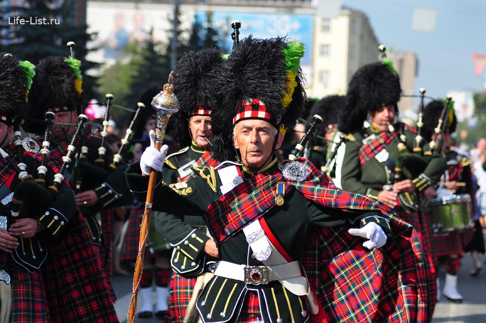шотландские музыканты день города Екб 2013