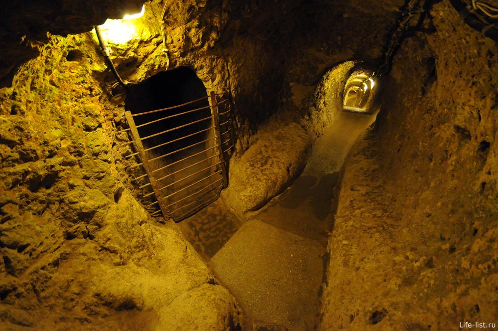 Турция Каппадокия подземный город