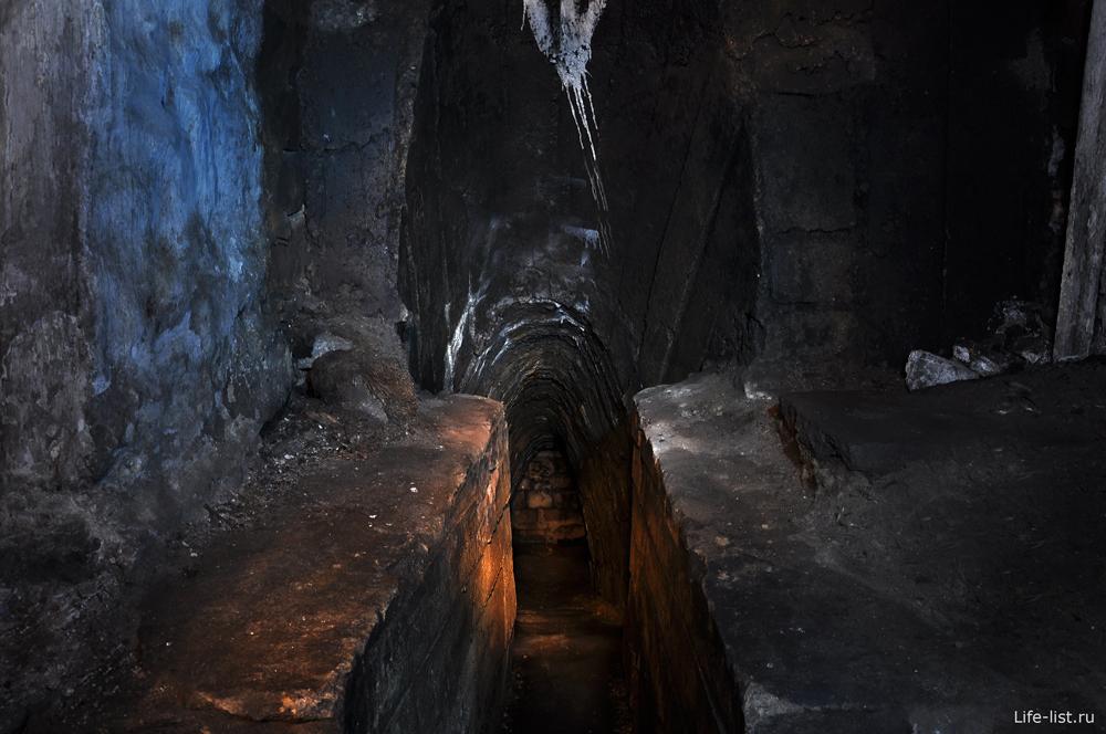 Вход в дренажный канал дидиновского тоннеля