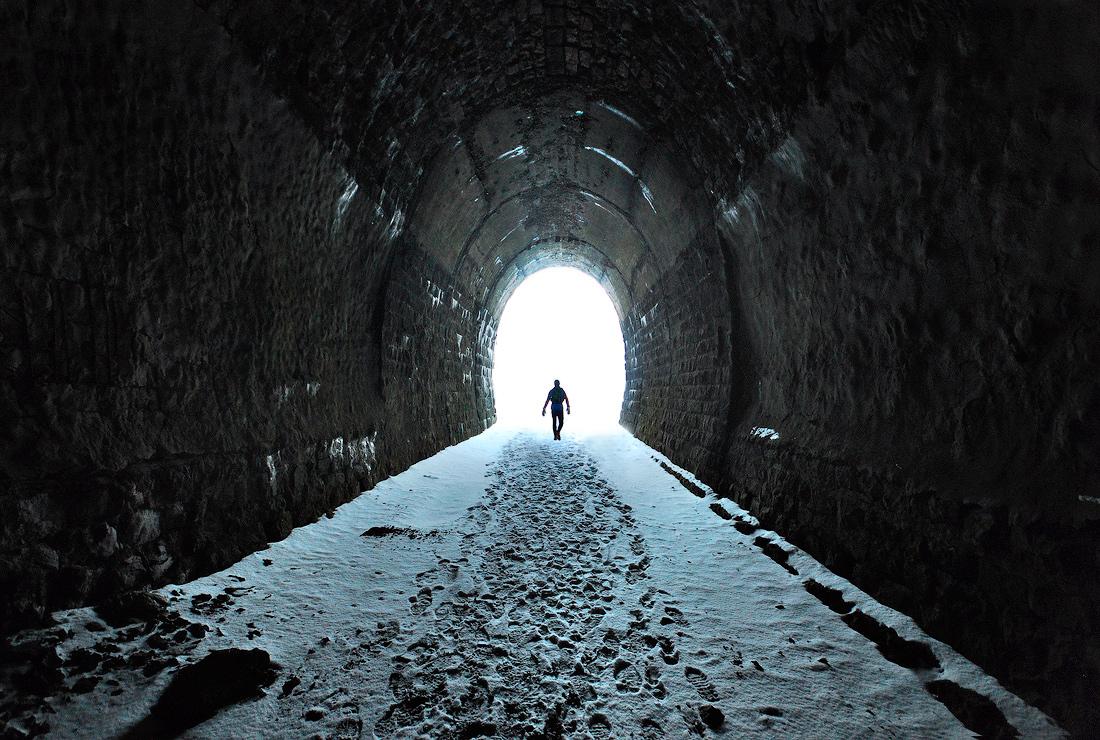 Дидинский тоннель зимой фото