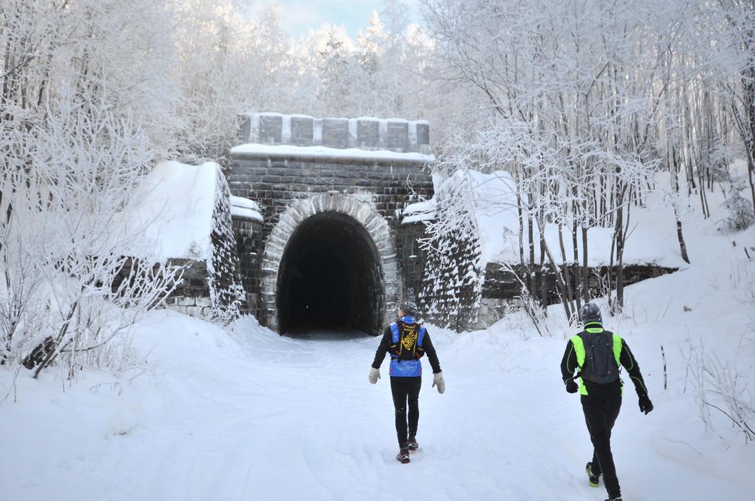Дидинский тоннель зимой