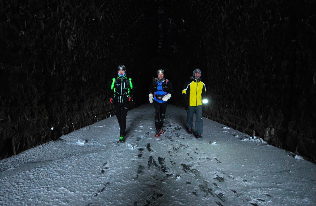 Зимой в дидинском тоннеле пробежка
