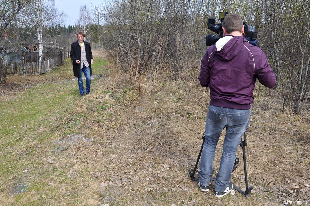 Съемка репортажа в Дидиновском тоннеле