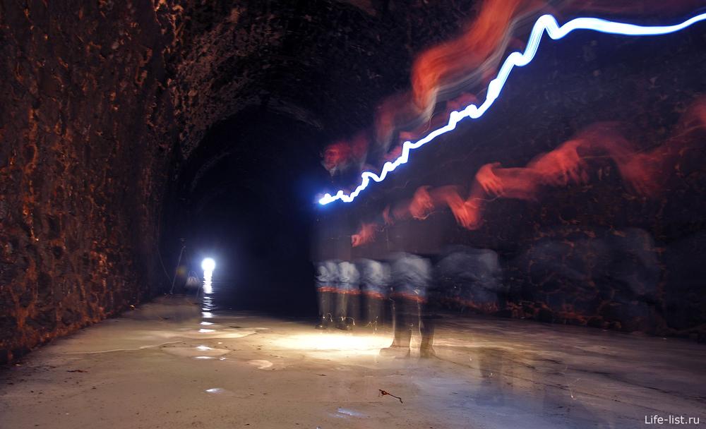 Внутри дидинского тоннеля