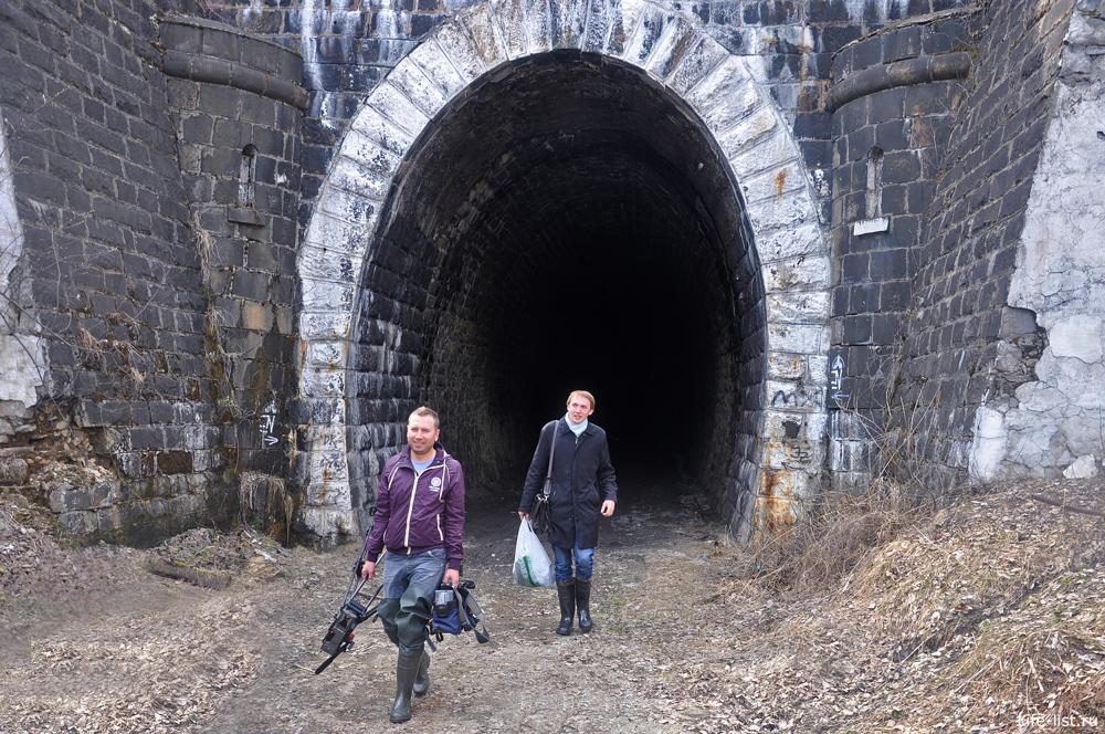 Съемочная группа в Дидинском тоннеле
