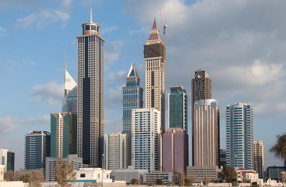 Высотки Дубай фото