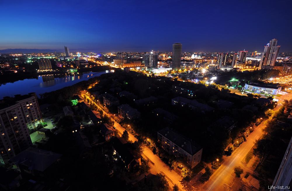 городской пруд ночной екатеринбург