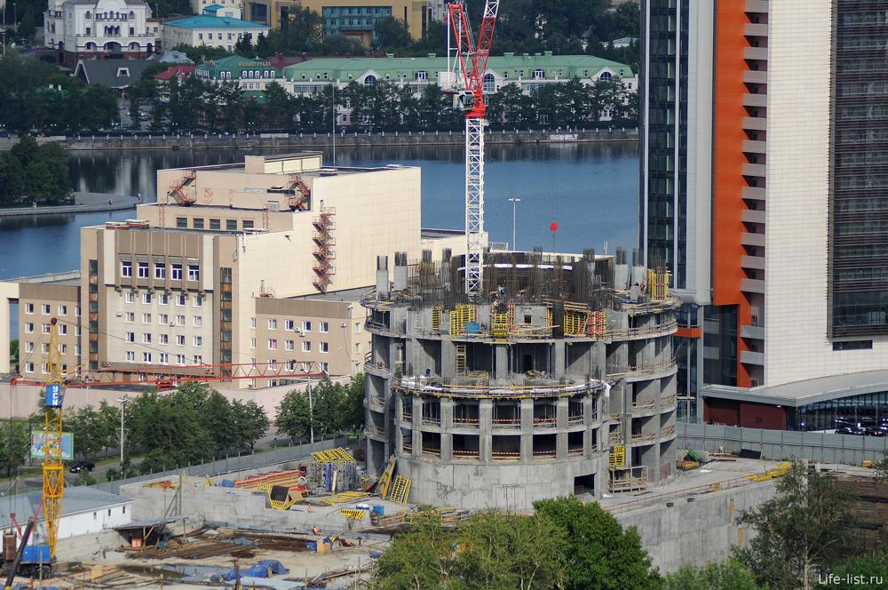 Строительство башни Исеть екатеринбург