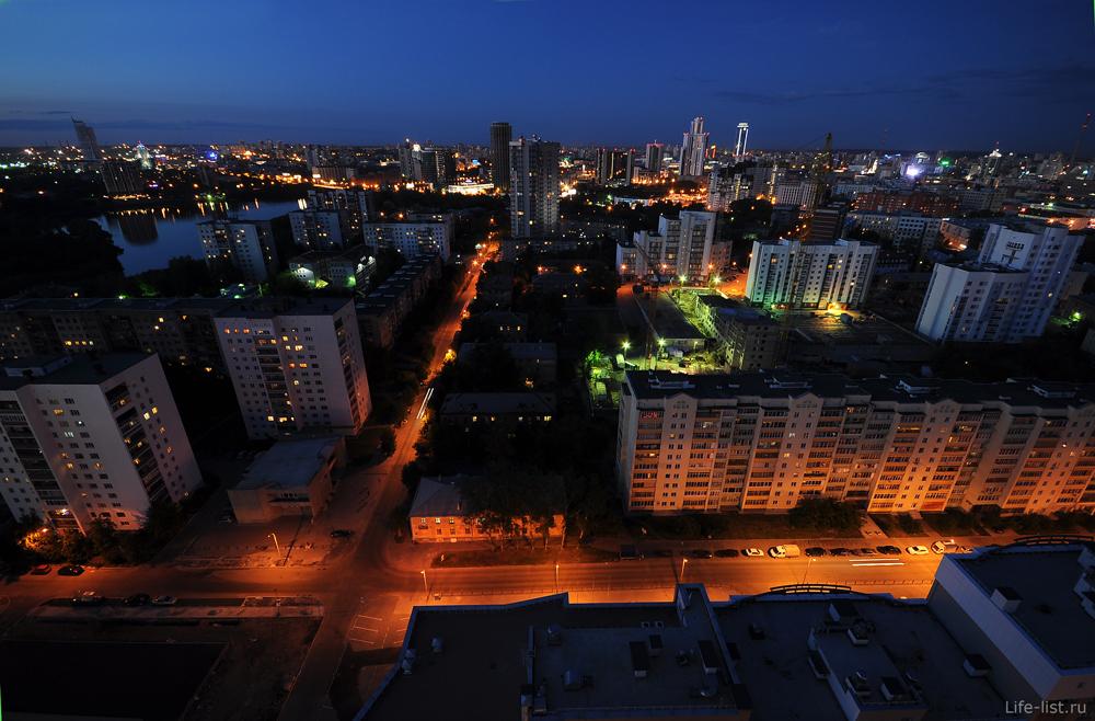 Юмашева вид ночной Екатеринбург
