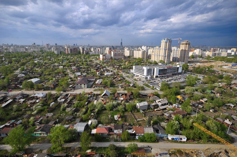 Район улицы Авиацонная Екатеринбург