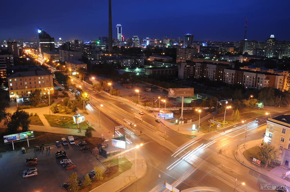 Пересечение 8 марта - Большакова Екатеринбург с высоты