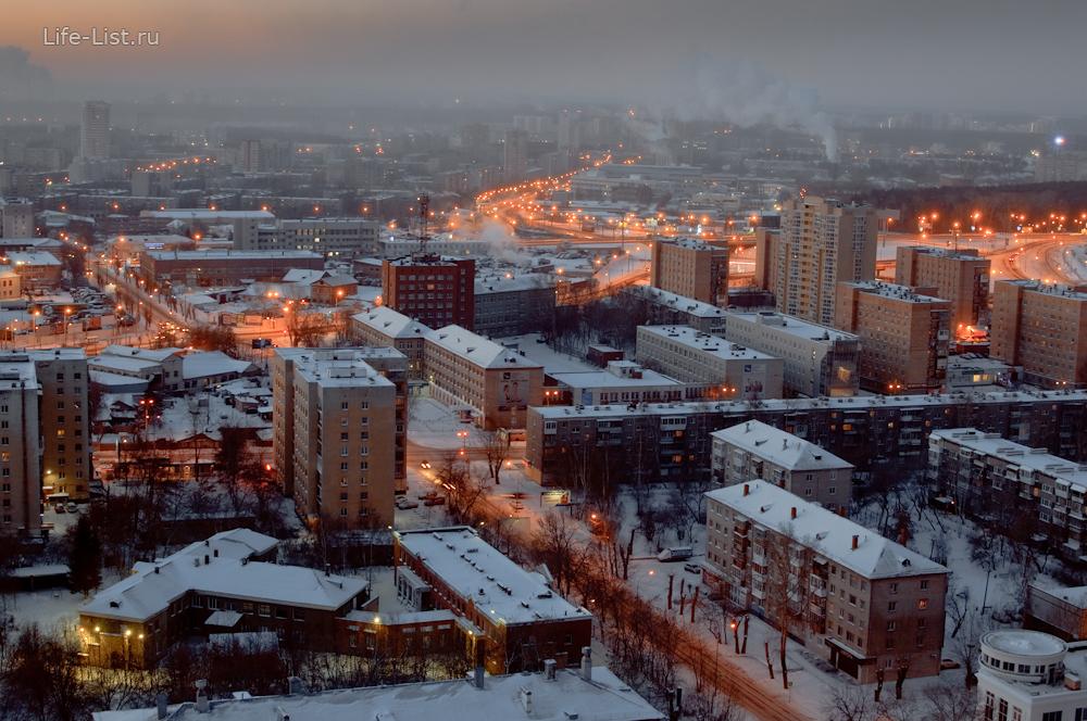 улица Крауля-Репина с высоты Екатеринбург