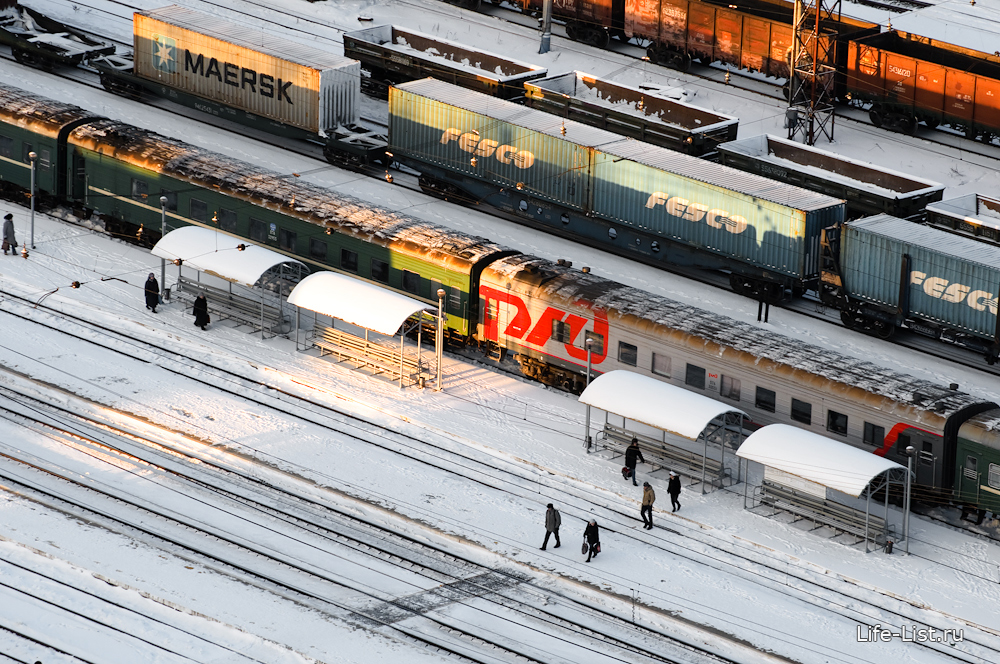станция Шарташ с высоты Екатеринбург