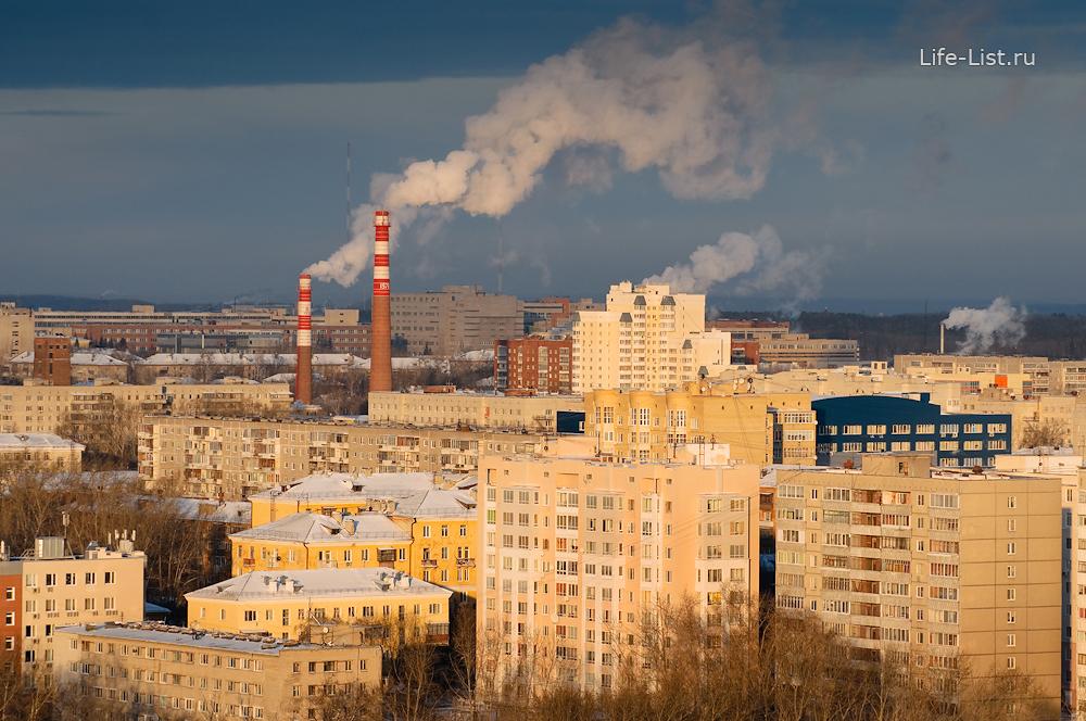 Втузгородок микрорайон с высоты Екатеринбург фото Виталий Караван