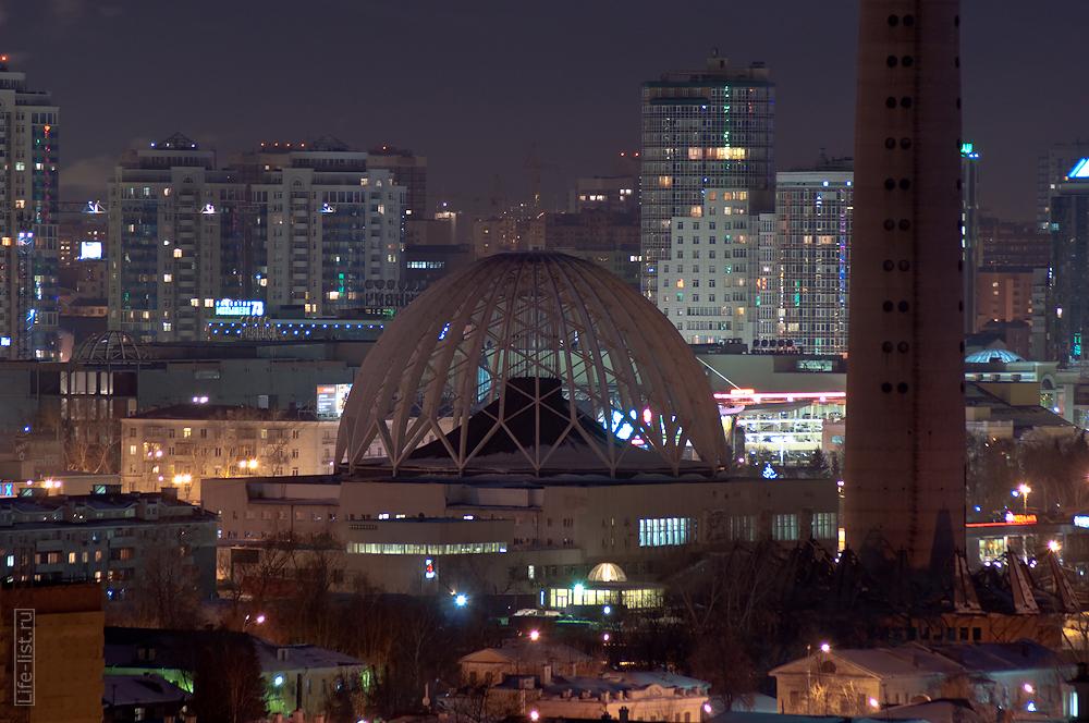 вечерний Екатеринбург цирк и телевизиая башня