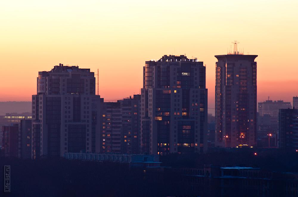 ночной Екатеринбург фотограф Виталий Караван Антарес дома