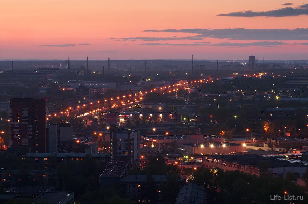 Уралмаш с высоты с жк Бажовский