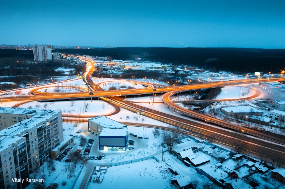 развязка на базовом переулке кольцовский тракт Екатеринбург фото Vitaly Karavan