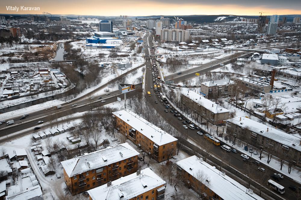 улица Щербакова с высоты Екатеринбург красивое фото Vitaly Karavan