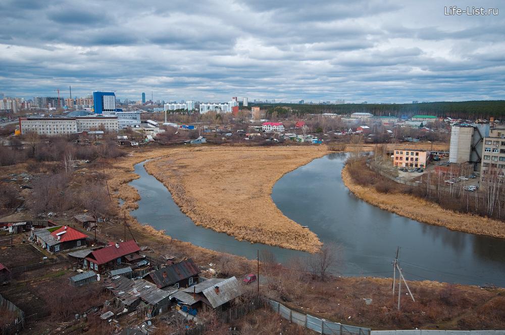 Река Исеть рядом с улицей Щербакова