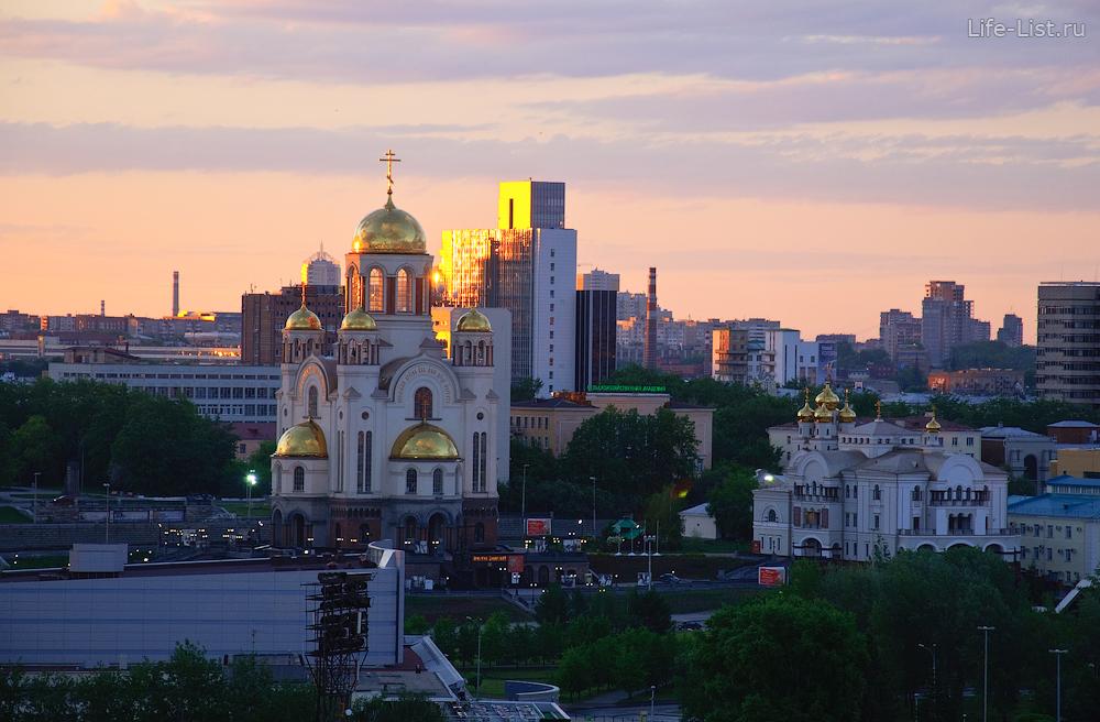 Храм на Крови на рассвете с высоты