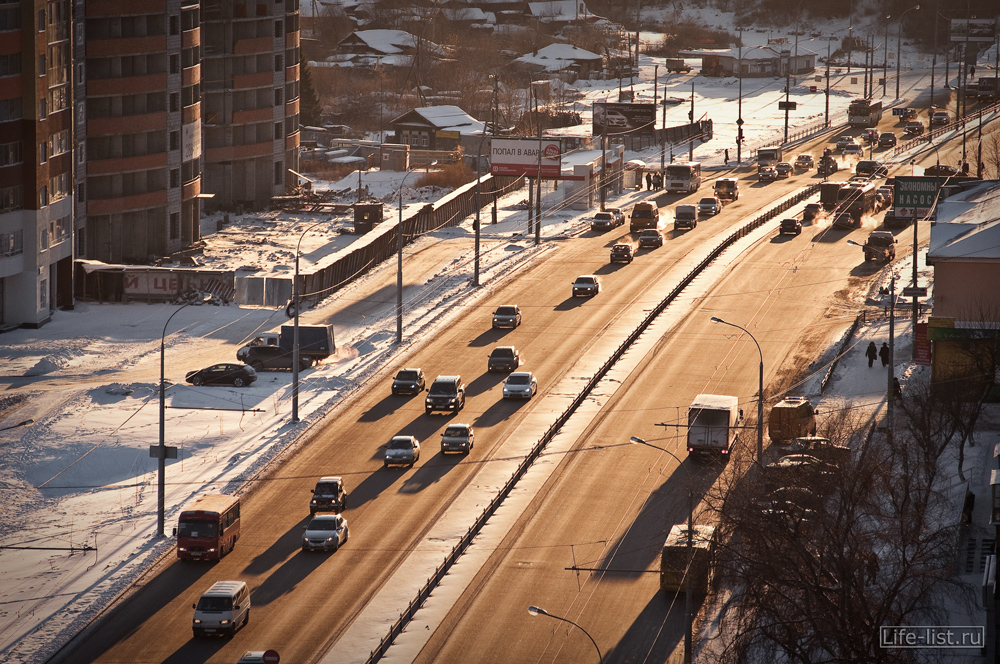 Морозный Екатеринбург с высоты фото Виталий Караван улица Щербакова