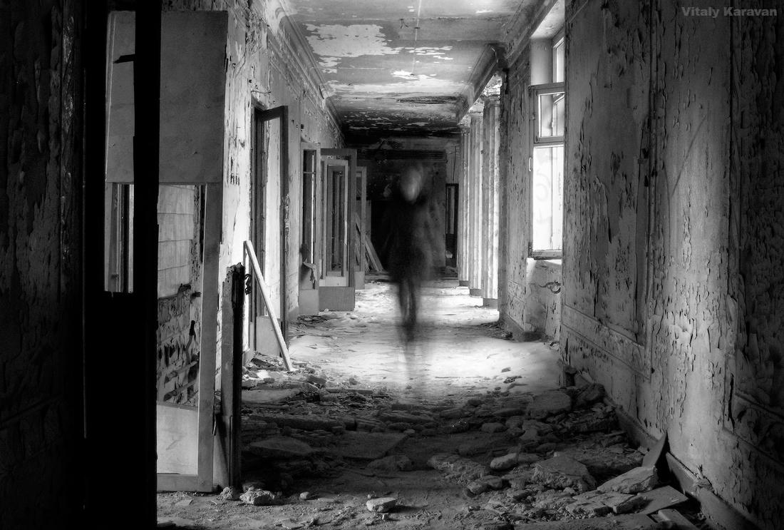 Привидение в заброшенной больнице в Зеленой Роще Екатеринбург