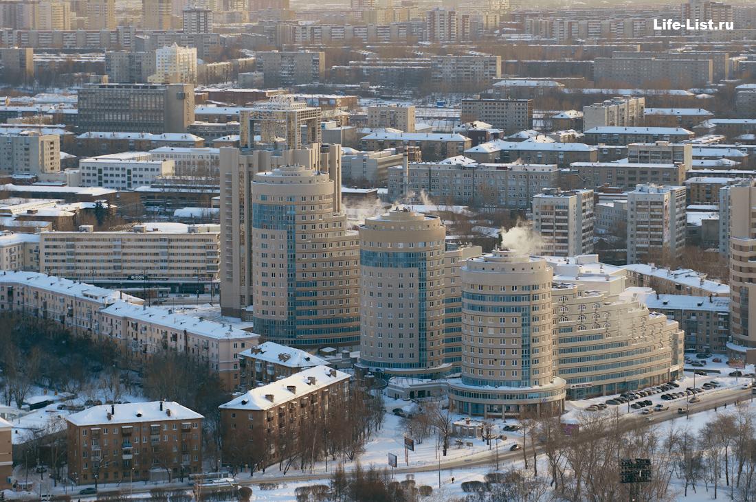 ЖК Кольцо Екатерины с высоты Екатеринбург